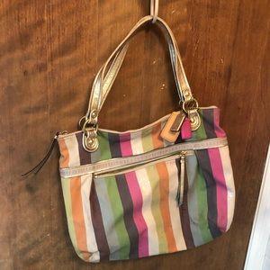 Coach Bag rainbow of colors